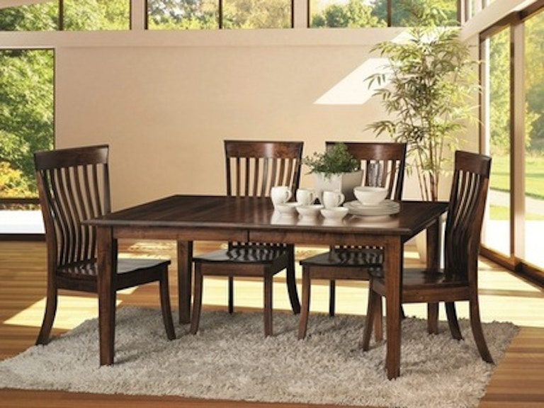 Fusion Dining Room Amish Solid Maple Hardwood Dinette Classic Essentials At China Towne Furniture