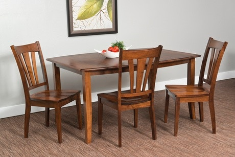 Fusion Amish Solid Cherry Hardwood Dinette Hatfield Essentials