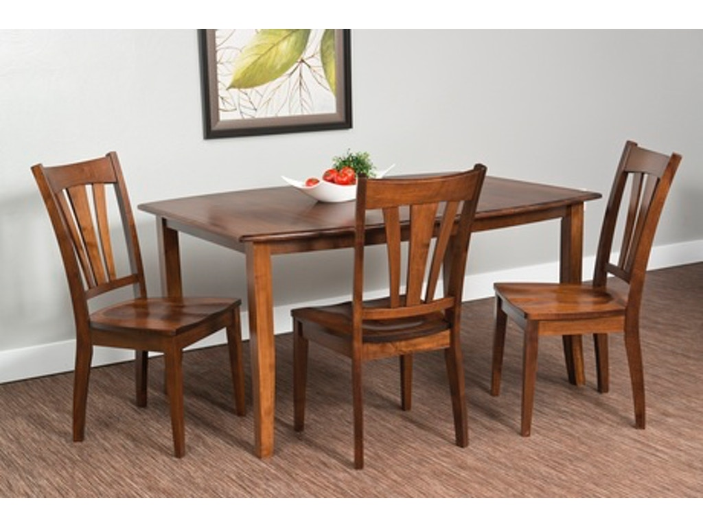 Fusion dining room amish solid cherry hardwood dinette for Dining room essentials