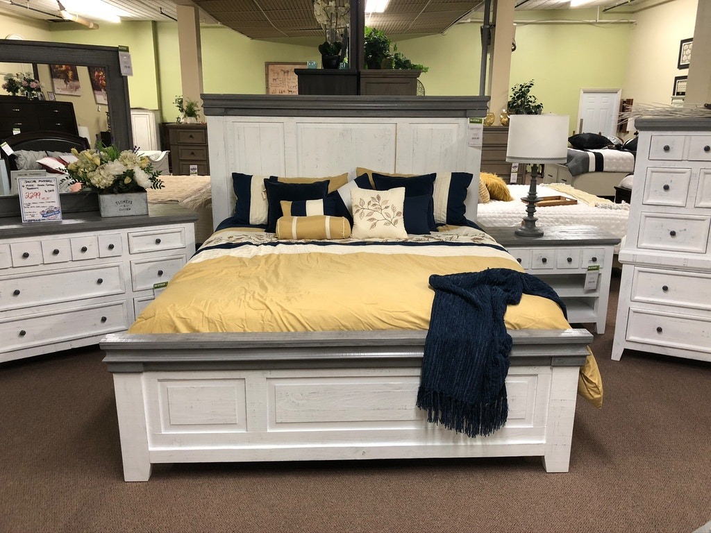 The Original Texas Rustic Cheyanne White Rustic Bed Jet Cam156k China Towne Furniture Solvay
