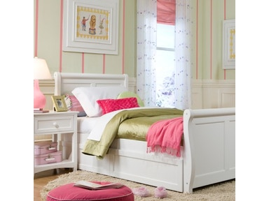 NE Kids Youth Sleigh Bed Twin available with storage, trundle and multiple finishes 96204