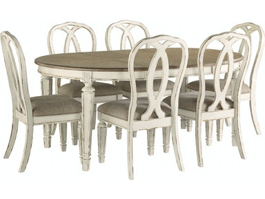 Art Sample Home Oval Table And 6 Side Chairs Dining Set