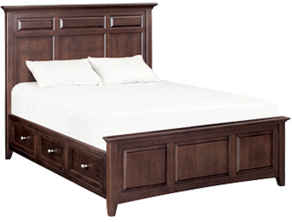 Remarkable Whittier Wood Bedroom Mckenzie Queen Mantel Storage Bed Bralicious Painted Fabric Chair Ideas Braliciousco