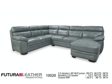 Futura Leathers Transitional Sofa And Chaise Sectional 10020