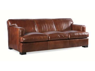 Sherrill This transitional Red Leather Sofa also comes with a Chair and Ottoman 458