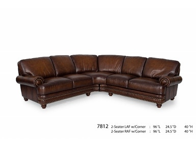 Futura Leathers This traditional Leather Sectional also comes in a sofa, chair and loveseat 7812