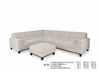Futura Leathers This transitional Sectional comes in a Chair, Sofa and Loveseat as well 8155