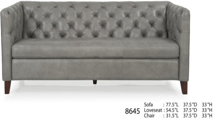 Futura Leathers Living Room Transitional Leather Tufted Sofa 8645 At  McArthur Furniture