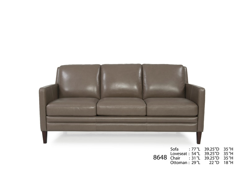 Futura Leathers Living Room This Transitional Leather Sofa Is Also Available In A Leather Chair