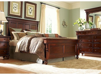 Schnading International This timeless bedroom suite offers a king bed, night stand, dresser and mirror 9203