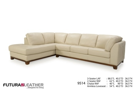 Futura Leathers Tranitional Sofa And Chaise Secional 9514  sc 1 st  McArthur Fine Furniture : chaise calgary - Sectionals, Sofas & Couches