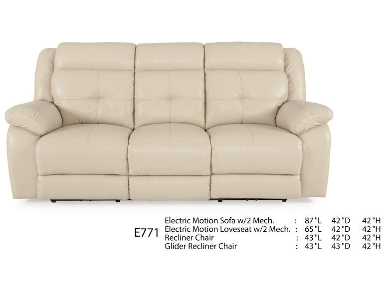 Futura Leathers Living Room Motion Leather Sofa E771 Mcarthur Furniture Calgary Ab Canada