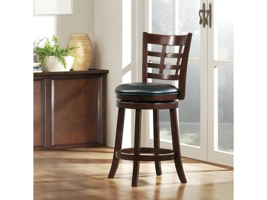 Lattice Back Swivel Barstool 028538