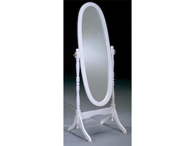 White Cheval Mirror 030555