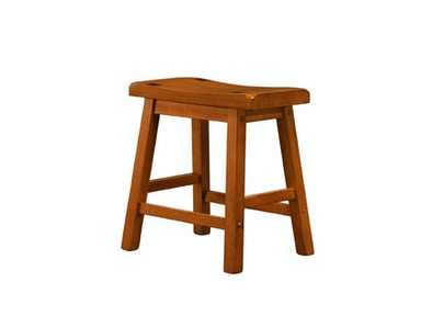 "Solid Wood Stool - Oak Finish 18"" 031592"