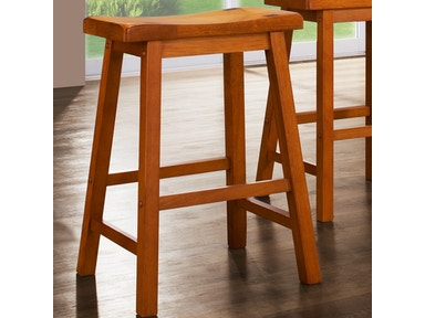 "Solid Wood Stool - Oak Finish 24"" 031593"