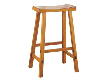 "Solid Wood Stool - Oak Finish 29"" 031594"