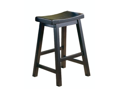 "Solid Wood Stool - Black Finish 24"" 031596"