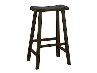 "Solid Wood Stool - Black Finish 29"" 031597"