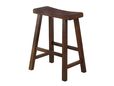 "Solid Wood Stool - Cherry Finish 24"" 031600"