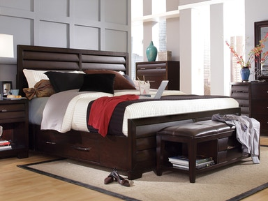Tangerine Double Storage Bed - King 034969