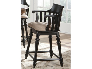 Crystal Lake Swivel Barstool - Black 035198