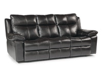 Julio Power Reclining Sofa - Black 035954