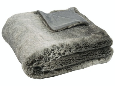 Chinchilla Faux Fur Throw 039499