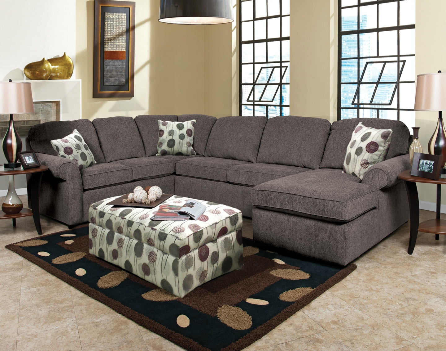 England Living Room Malibu Right Chaise Sectional 041631 ...