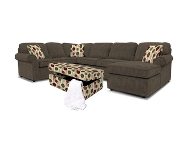 Malibu Right Chaise Sectional with Ottoman 041743