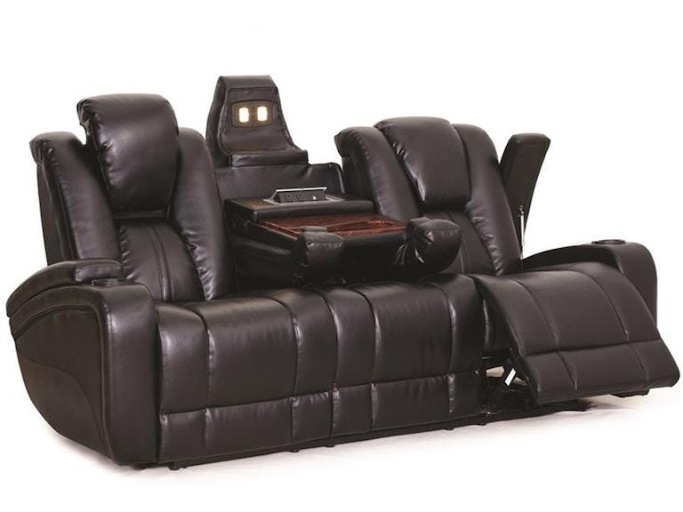 Synergy Home Furnishings Ebony Reclining Sofa 042232