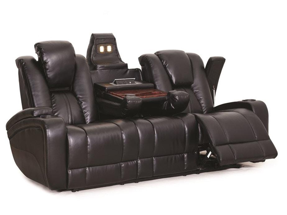 Recliner Sofa Chair Vercelli Aqua Leather Reclining Sofa