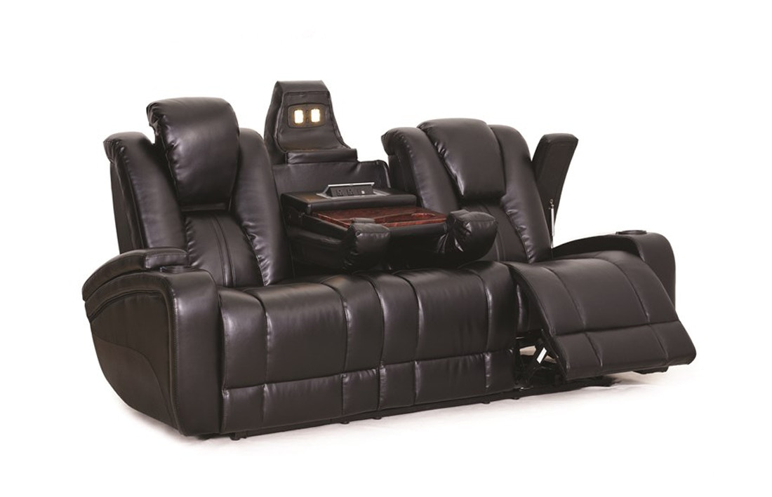 Synergy Home Furnishings Ebony Power Reclining Sofa 042232