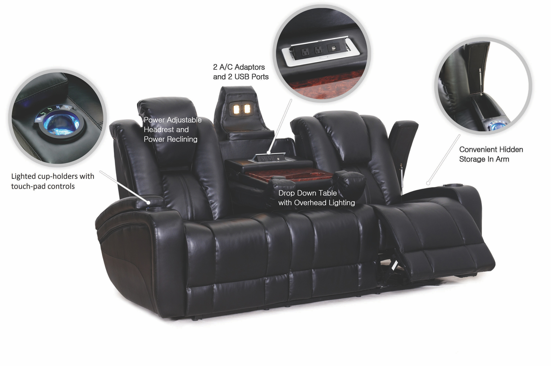 Synergy Home Furnishings Ebony Power Reclining Sofa 042232