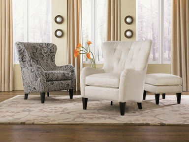 Tufted Wing Back Chair 051605