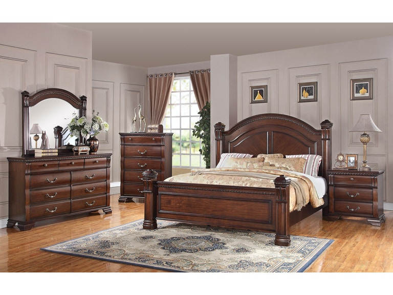 Austin Group Isabella Bedroom Group - King 446242 - Furniture Fair ...