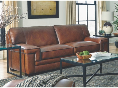 Chestnut Leather Sofa 044358