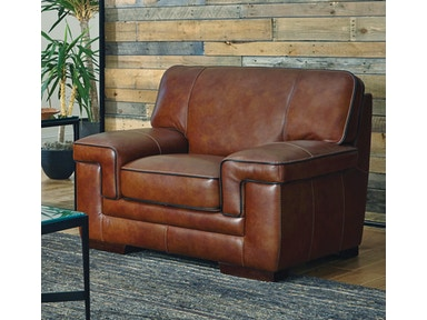 Chestnut Leather Chair 044360