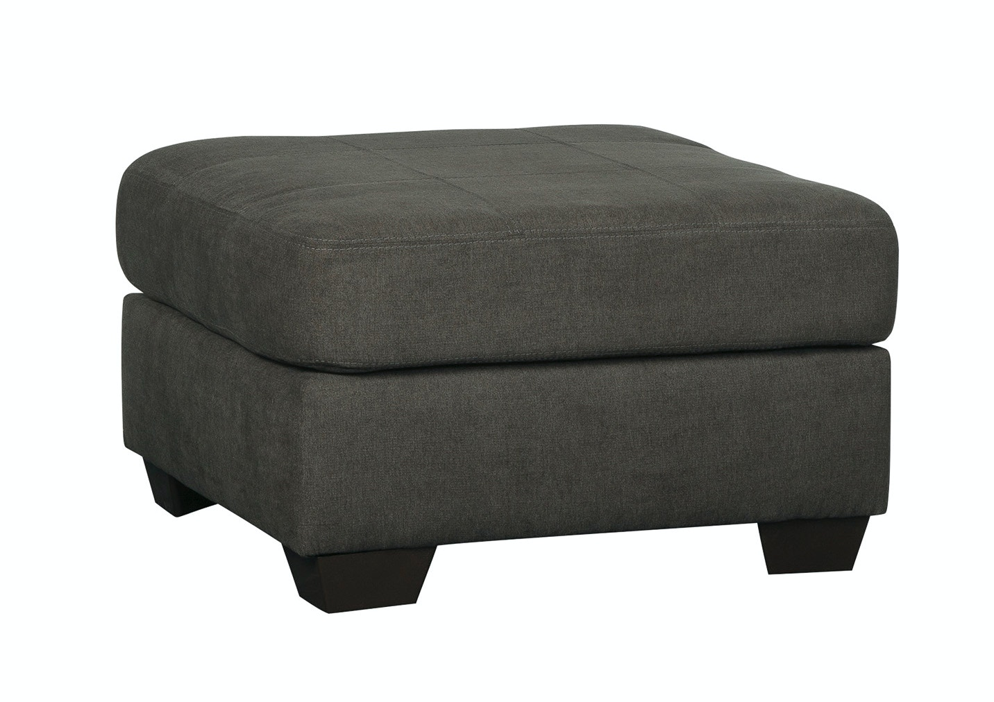 Signature Design by Ashley Living Room Delta City Oversized Ottoman - Steel 044458 - Furniture ...