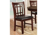 Tic-Tac-Toe Side Chair - Dark 045659