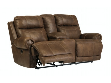 Austere Power Reclining Loveseat with Console 048100