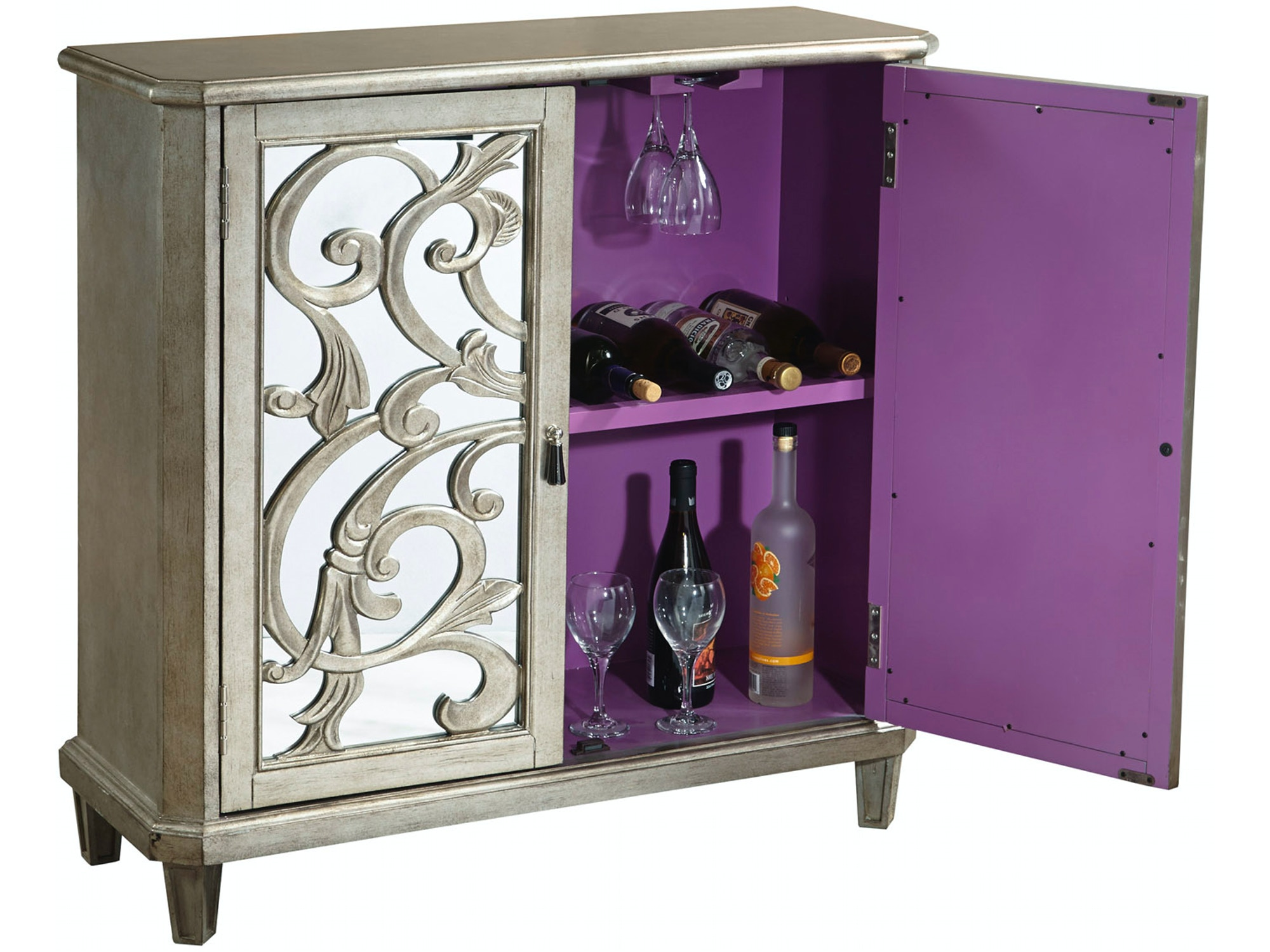 Scrolled Wine Console 048213