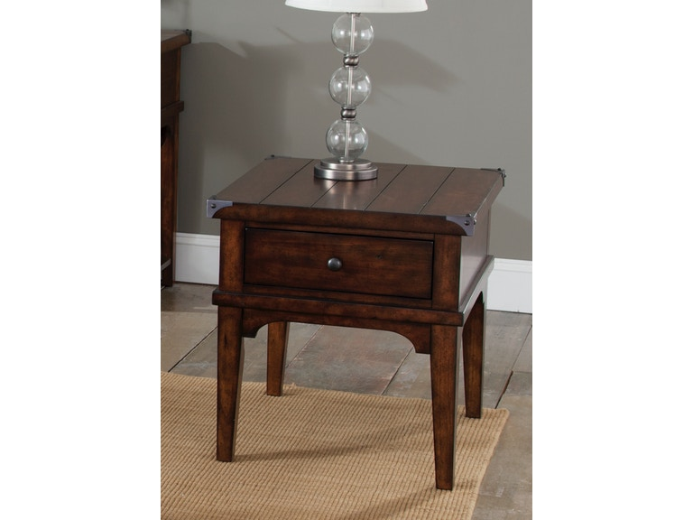 Liberty Furniture Living Room Aspen Skies Side Table