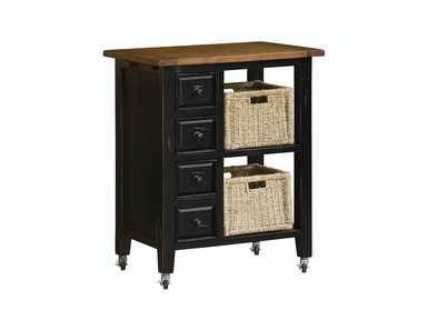 Cottage Black Kitchen Cart 048623