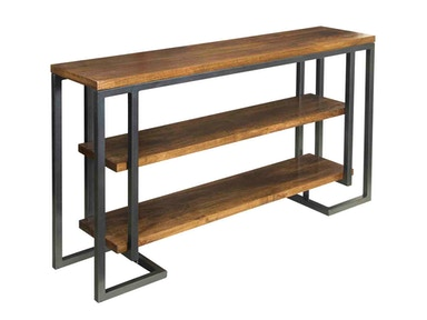Metal and Mango Console Table 049778