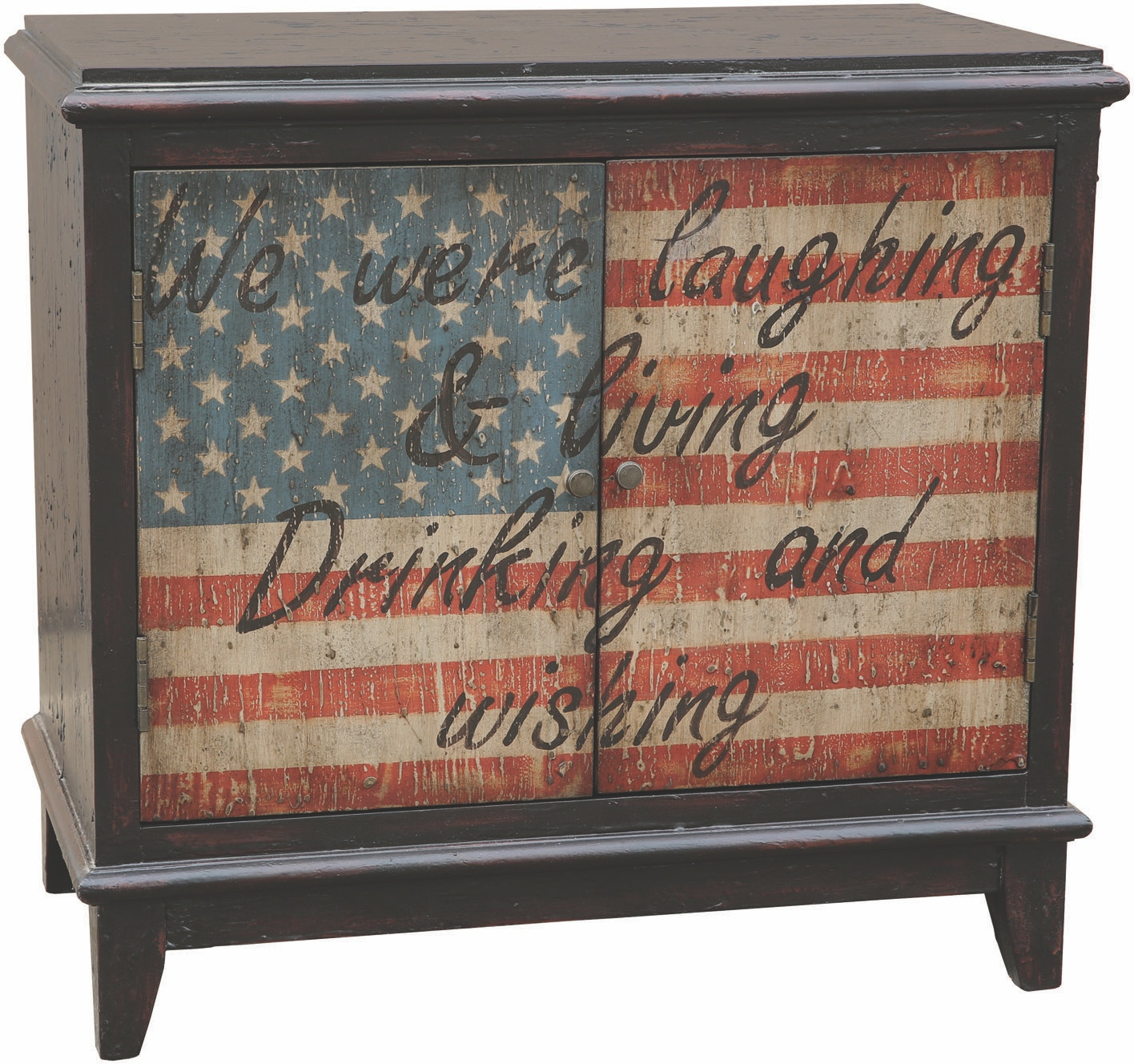 Brand new Pulaski Furniture Bar and Game Room American Flag Bar Cabinet  GV41