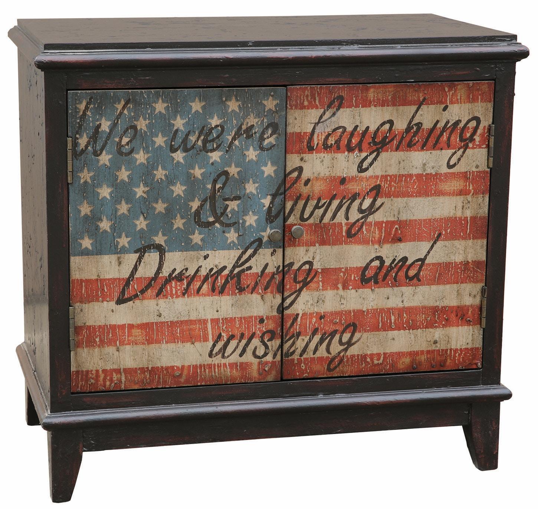 Pulaski Furniture Bar And Game Room American Flag Bar Cabinet 050833 Furniture Fair