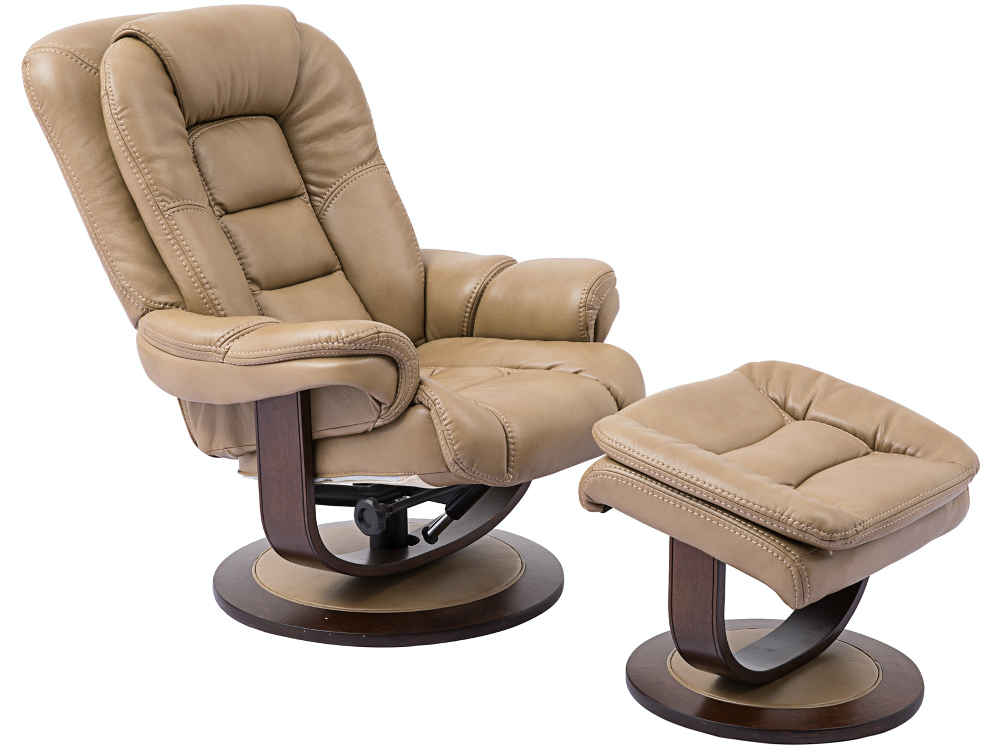 Maurice Recliner with Ottoman - Oyster 050940