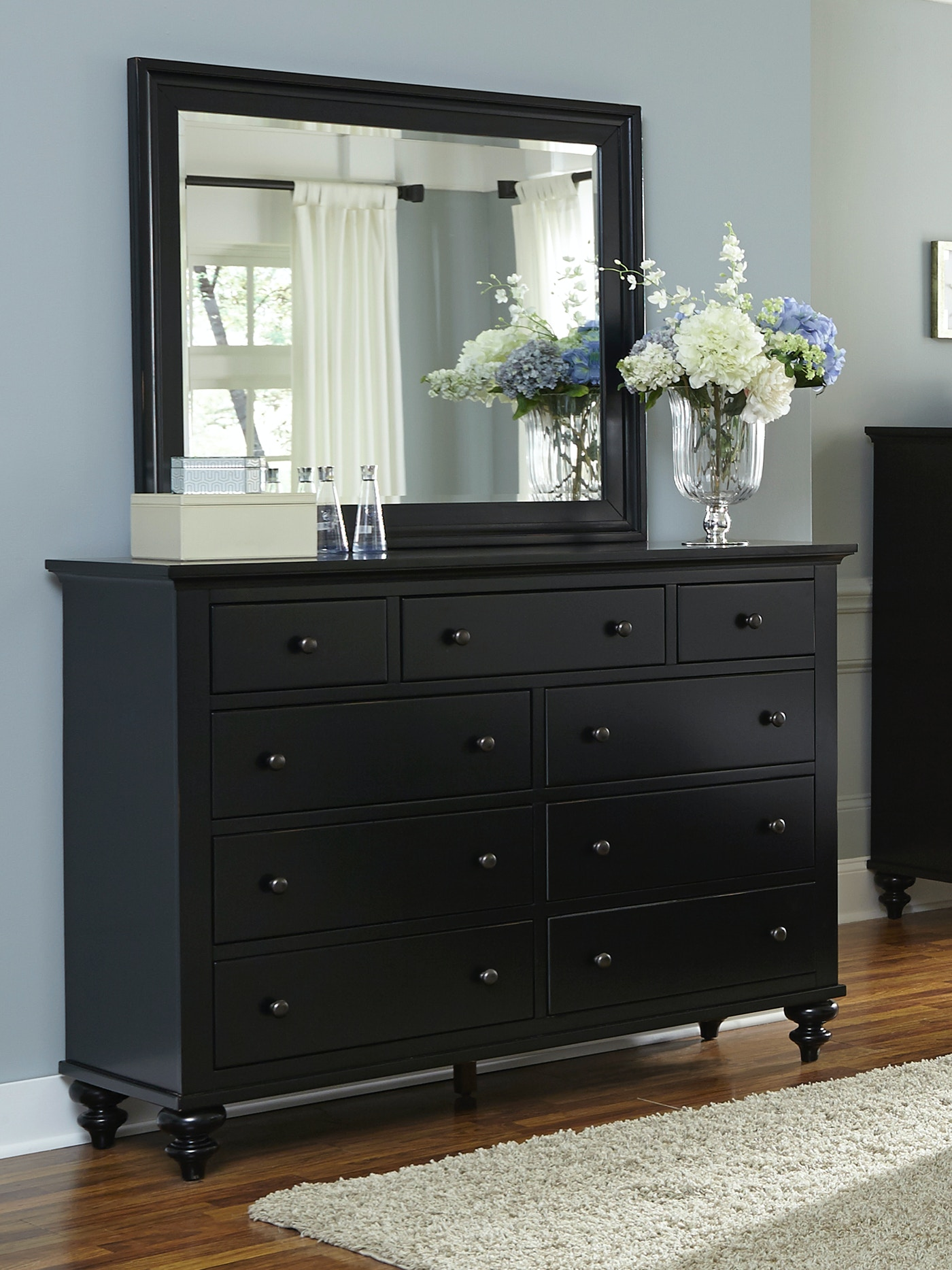 Liberty Furniture Bedroom Hamilton Dresser Black 050948 Furniture Fair Cincinnati Dayton