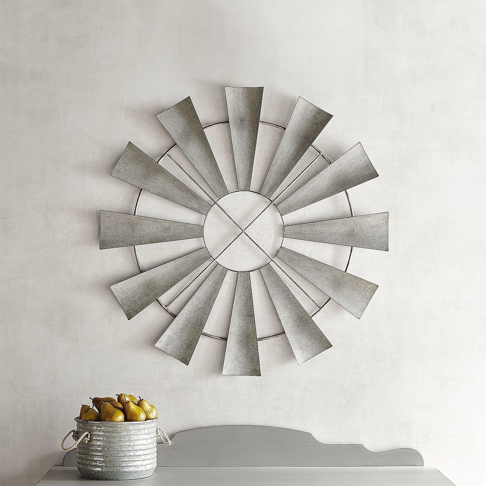 Magnolia Home Accessories Aged Zinc Windmill Fan 051084